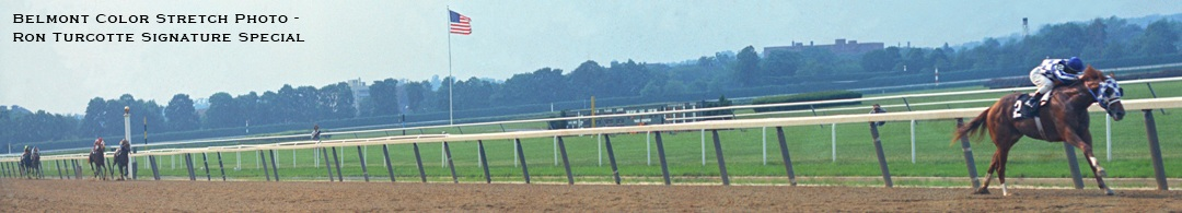 Belmont Color Stretch Photo - Ron Turcotte Signature Special