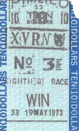 Secretariat 1973 Preakness $10 Winning Ticket