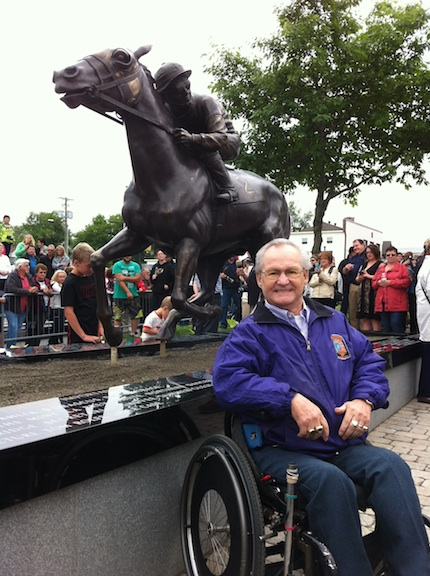 Foyer Jacinthe Grand Falls Nb : Ron turcotte honored with monument in hometown of grand